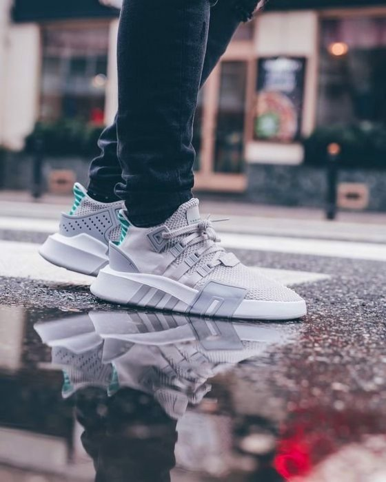 [CQ2362] K ADIDAS EQT BASK GREY WHITE GREEN