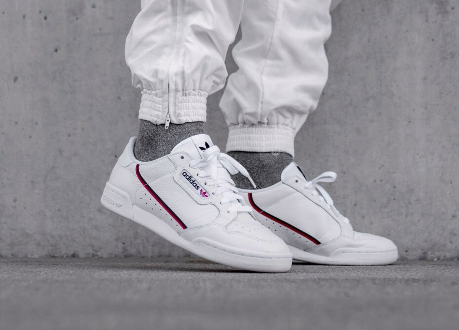 [F99787] K ADIDAS CONTINENTAL 80S WHITE BLACK RED