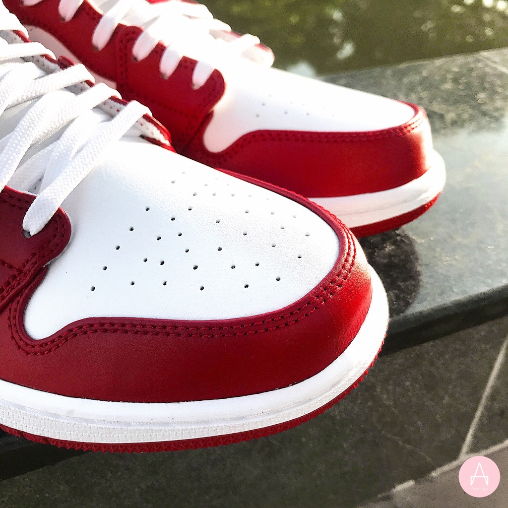 [553558-611] M NIKE AIR JORDAN 1 LOW GYM RED