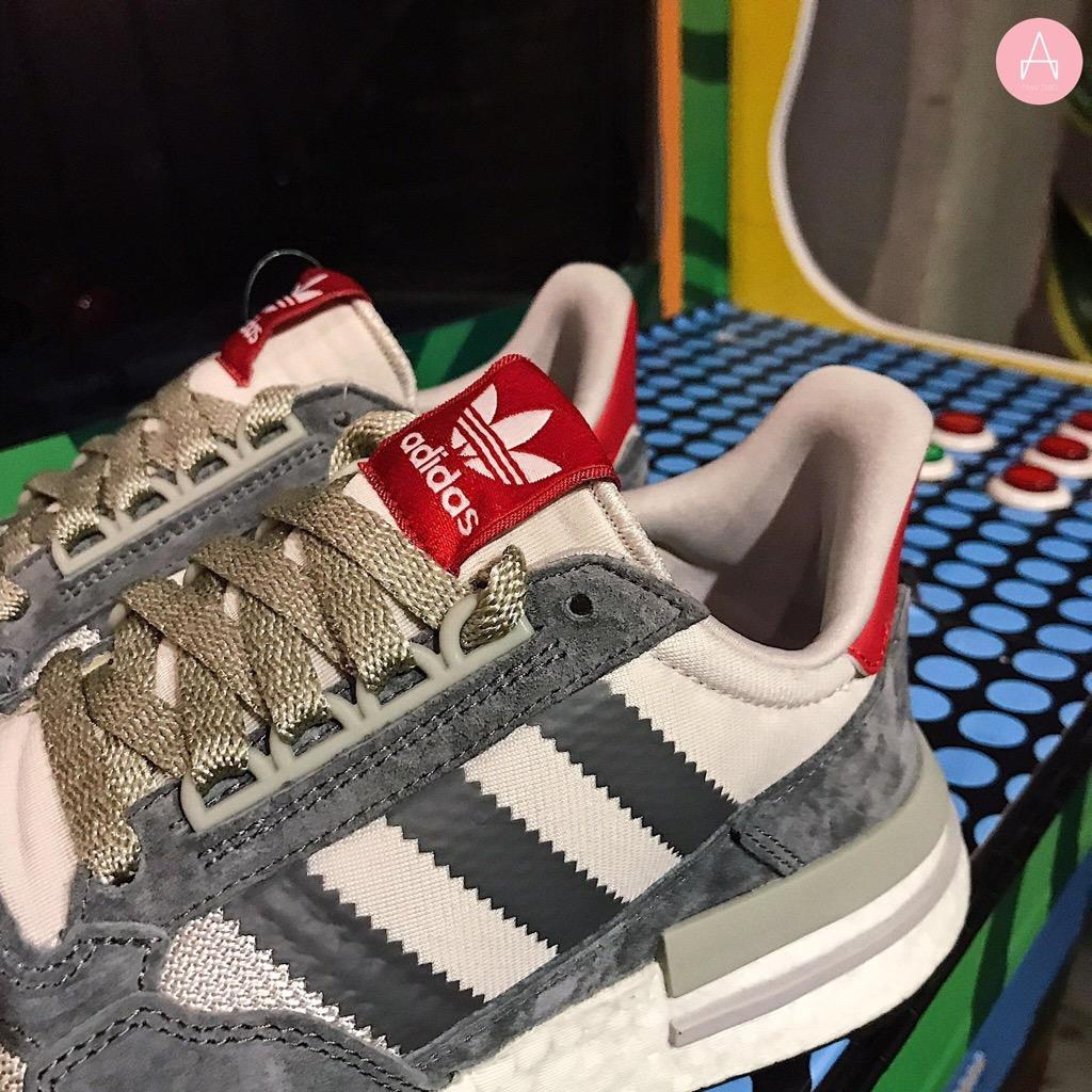 [B42204] M ADIDAS ZX 500 RM GREY WHITE RED