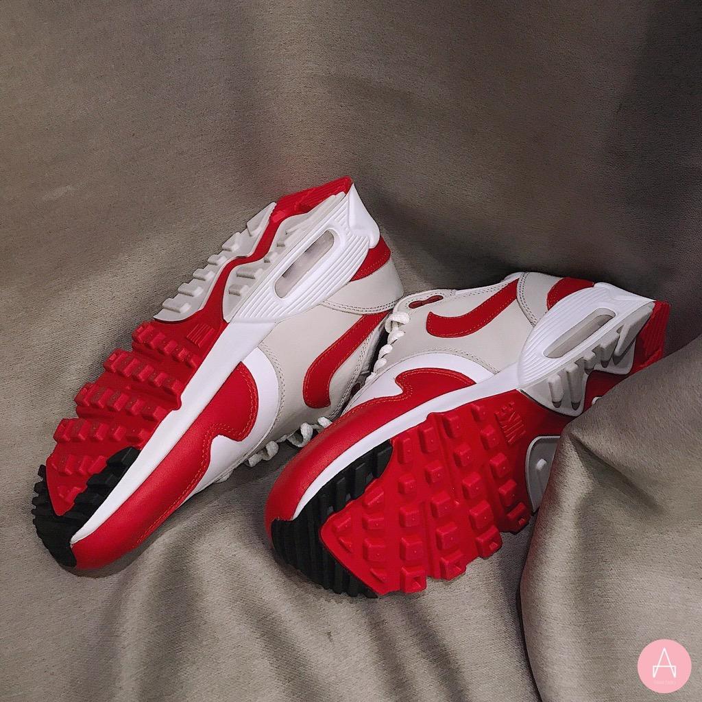 [AQ1273-100] W NIKE AIR MAX 90/1 WHITE RED