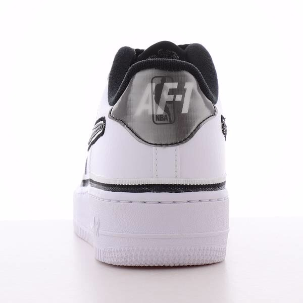 [AR0734-100] K NIKE AIR FORCE 1 X NBA WHITE BLACK
