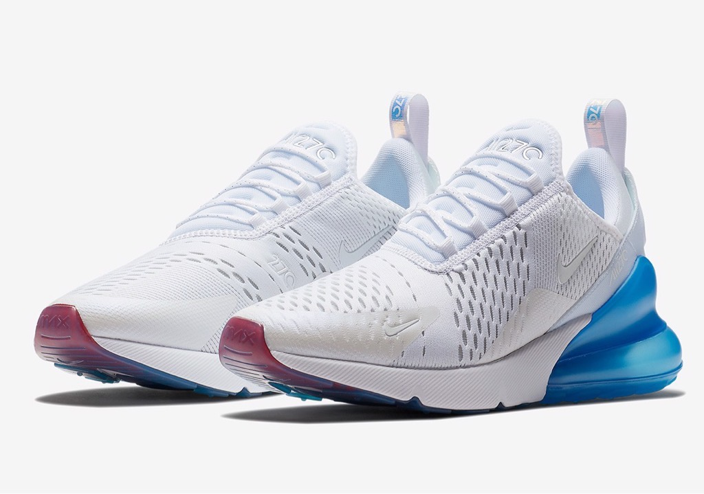 [AQ7982-100] M NIKE AIR MAX 270 WHITE PHOTO BLUE
