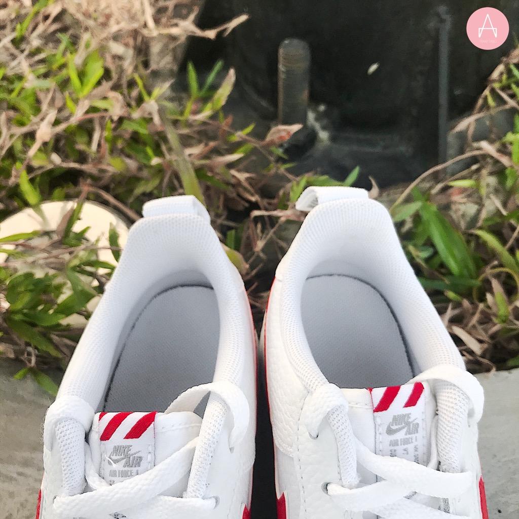 [CZ4203-100] K NIKE AIR FORCE 1 LOW SE WHITE GREY UNIVERSITY RED