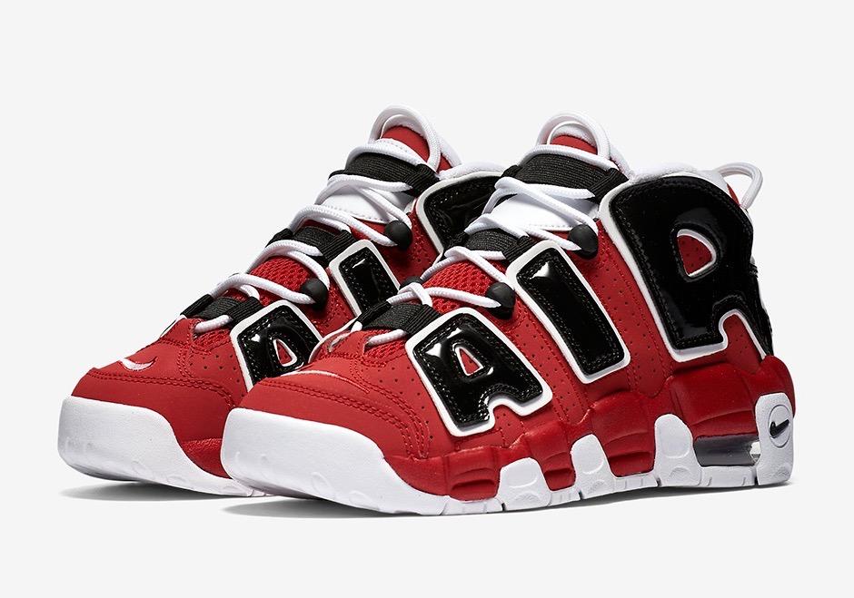 [415082-600] K NIKE AIR UPTEMPO CHICAGO RED BLACK