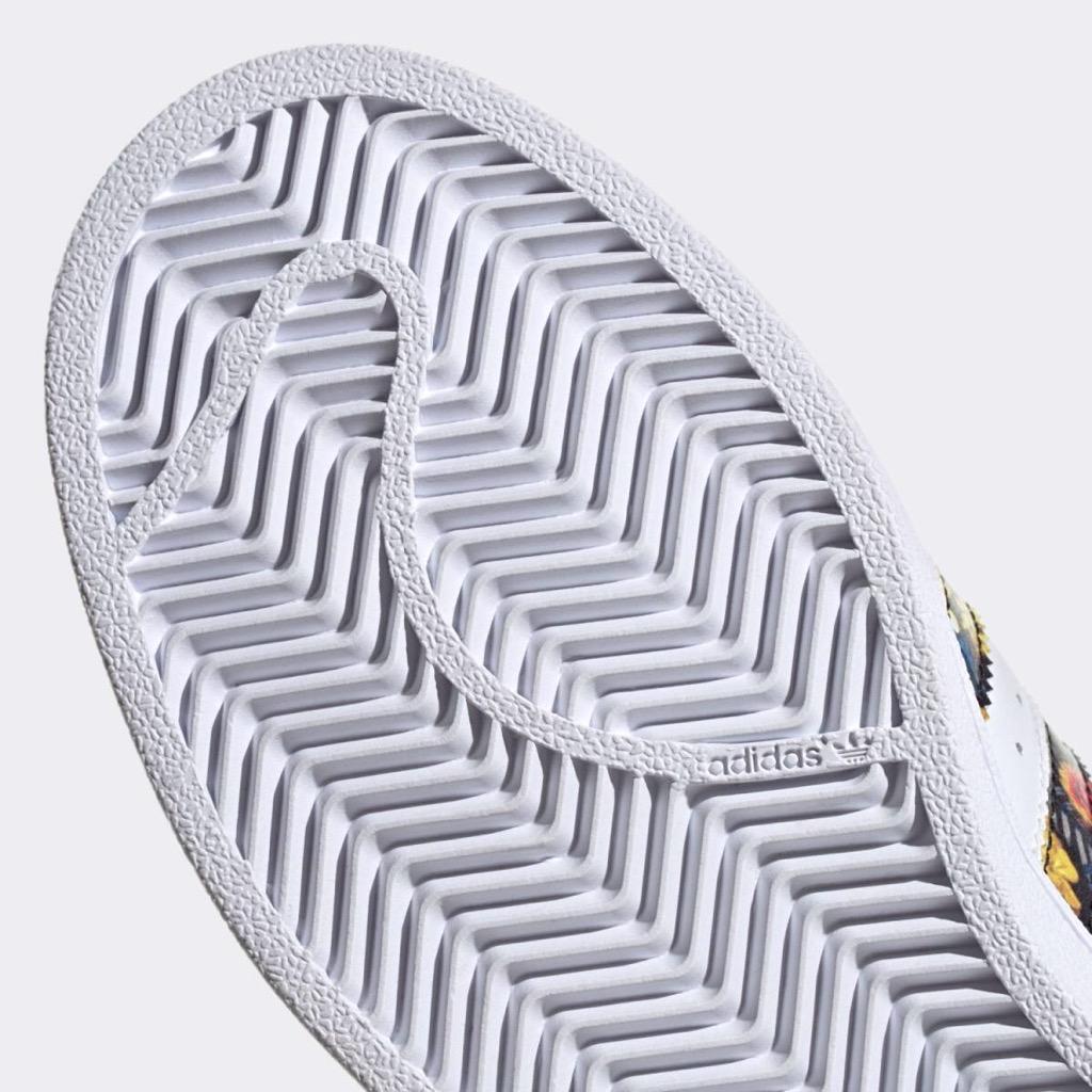 [EF1480] W ADIDAS SUPERSTAR EXCLUSIVE WHITE FLORAL