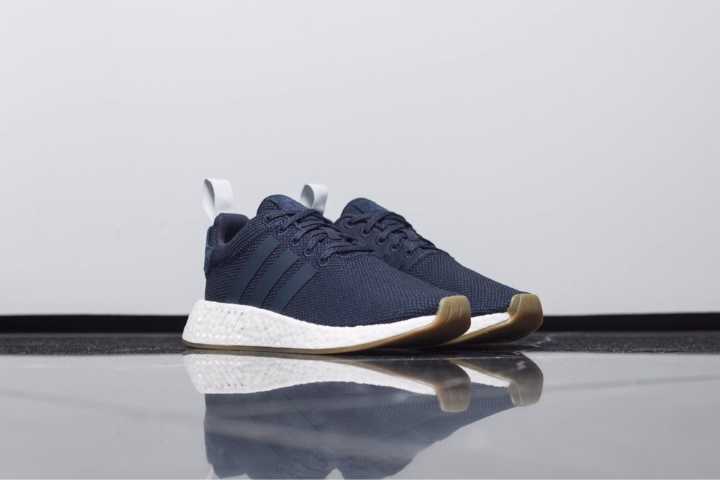 [BY9316] W ADIDAS NMD R2 NAVY WHITE