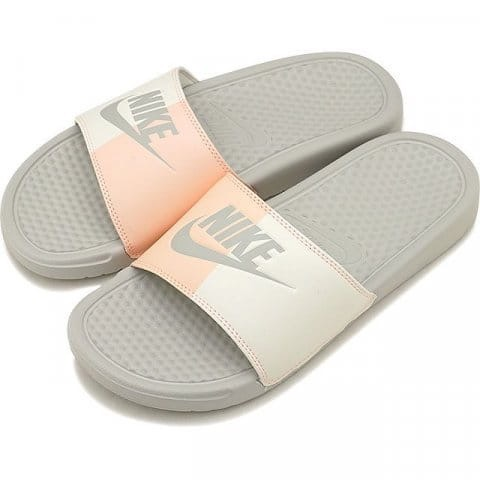 [343881-005] W NIKE BENASSI JDI LIGHT BONE PINK WHITE