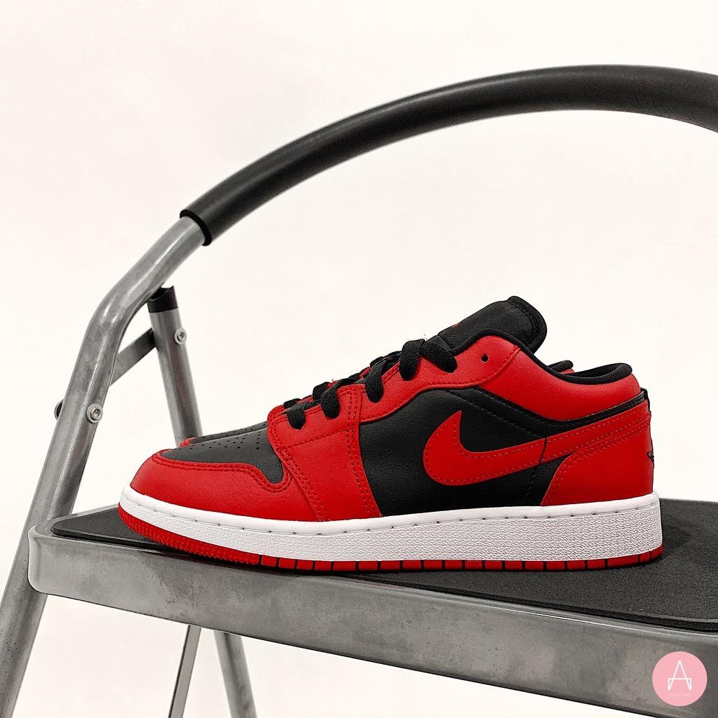 [553560-606]W AIR JORDAN 1 LOW GYM RED/BLACK