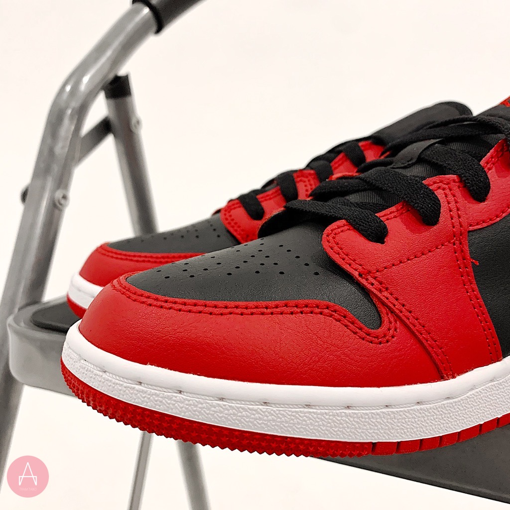 [553560-606]W AIR JORDAN 1 LOW GYM RED/BLACK