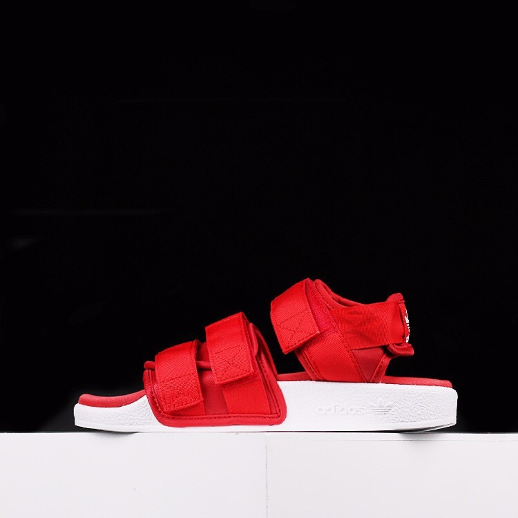 [S75380] W ADIDAS ADILETTE SANDALS ALL RED