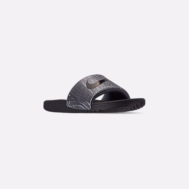 [BV1042-400] K NIKE KAWA SLIDE METALLIC BLUE DUSK BLACK