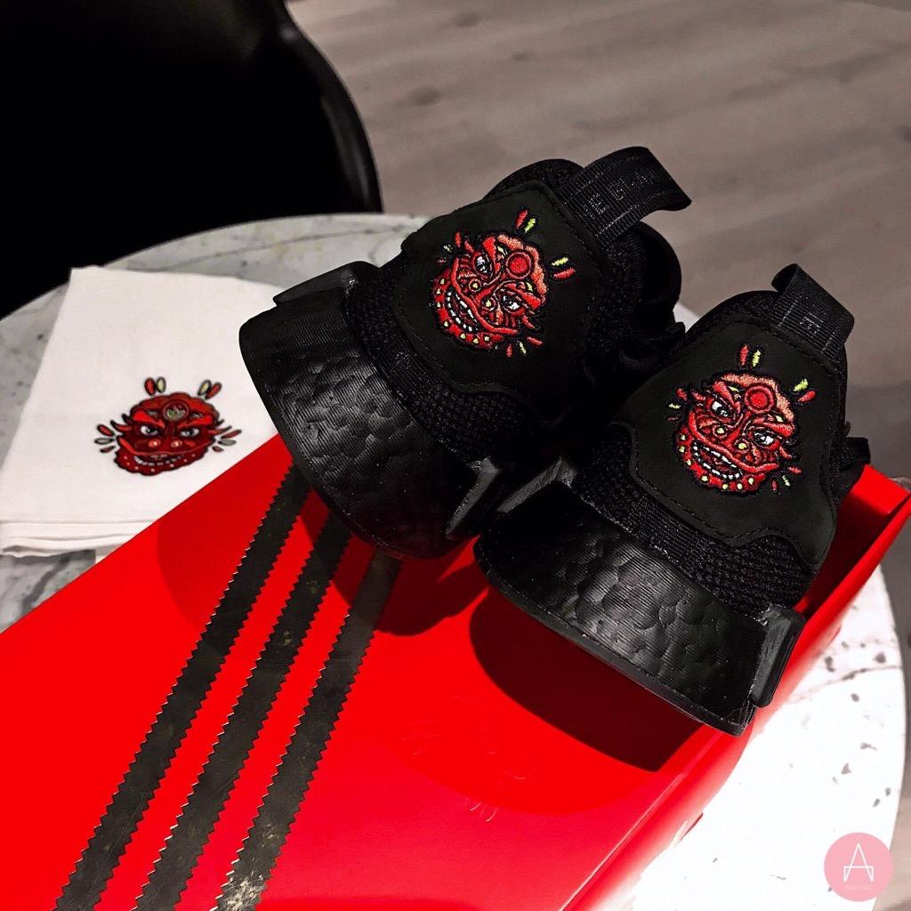 [G27576] M ADIDAS NMD R1 CNY 2019 BLACK RED
