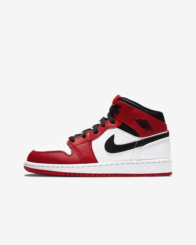 [554725-173] K JORDAN 1 MID CHICAGO 2020 RED/BLACK