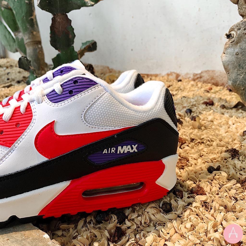[AJ1285-106] M NIKE AIR MAX 90 ESSENTIAL RED PURPLE