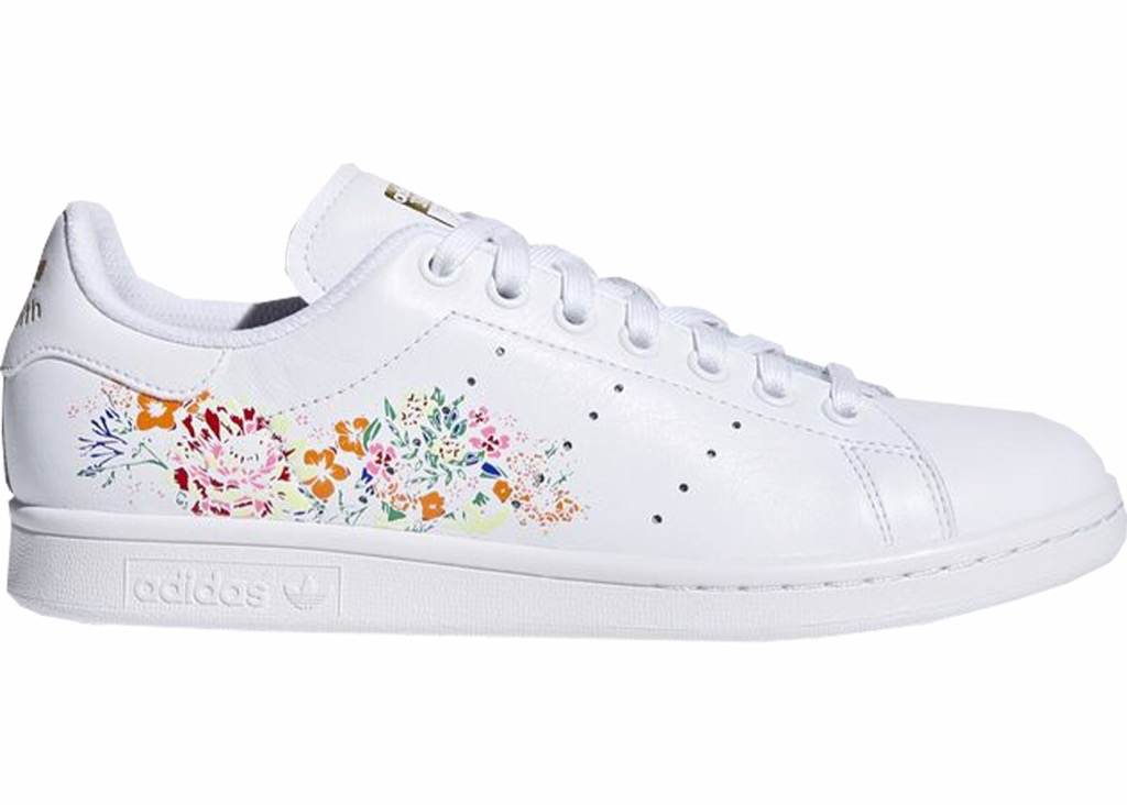 [BC0259] W ADIDAS STAN SMITH WHITE FLORAL