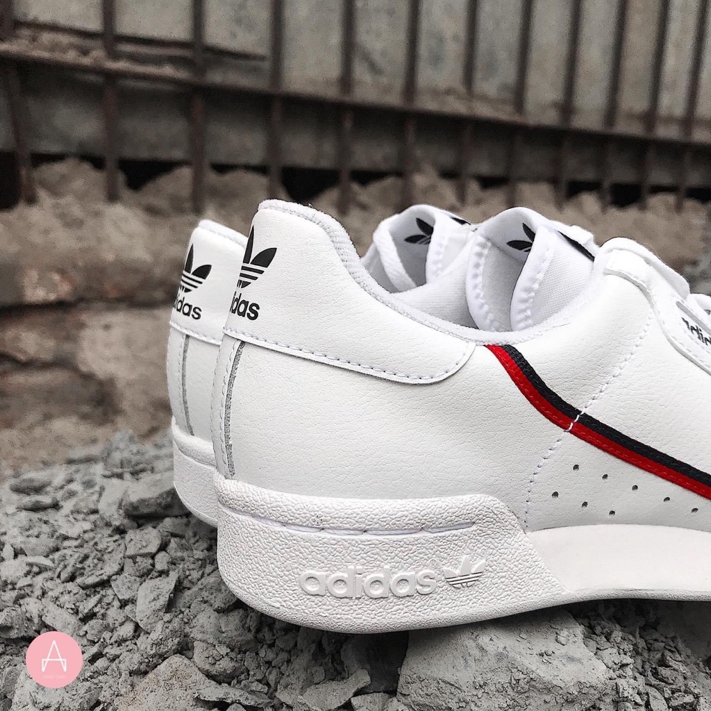 [G27706] M ADIDAS ORIGINALS CONTINENTAL 80S TRAINERS WHITE RED BLACK