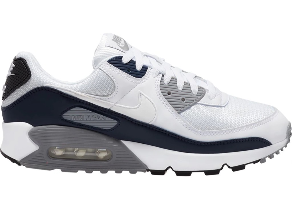 [CT4352-100] M NIKE AIR MAX 90 WHITE/WHITE-PARTICLE GREY