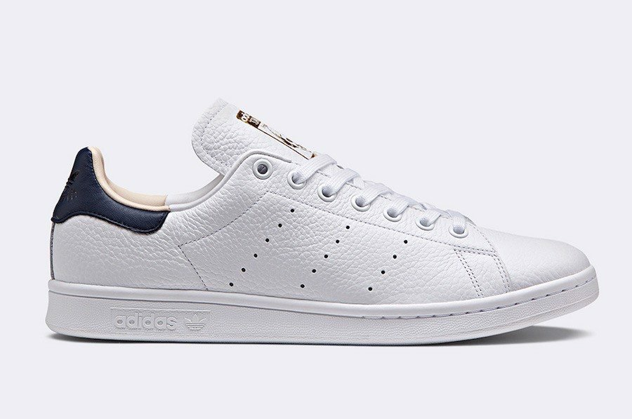 [CQ2201] M ADIDAS STAN SMITH NAVY GOLD LEATHER