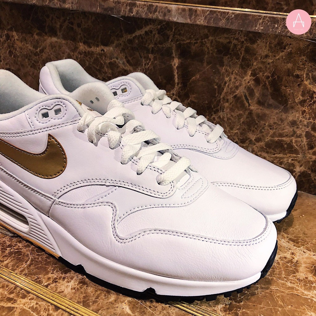 [AJ7695-102] M NIKE AIR MAX 90/1 WHITE METALIC