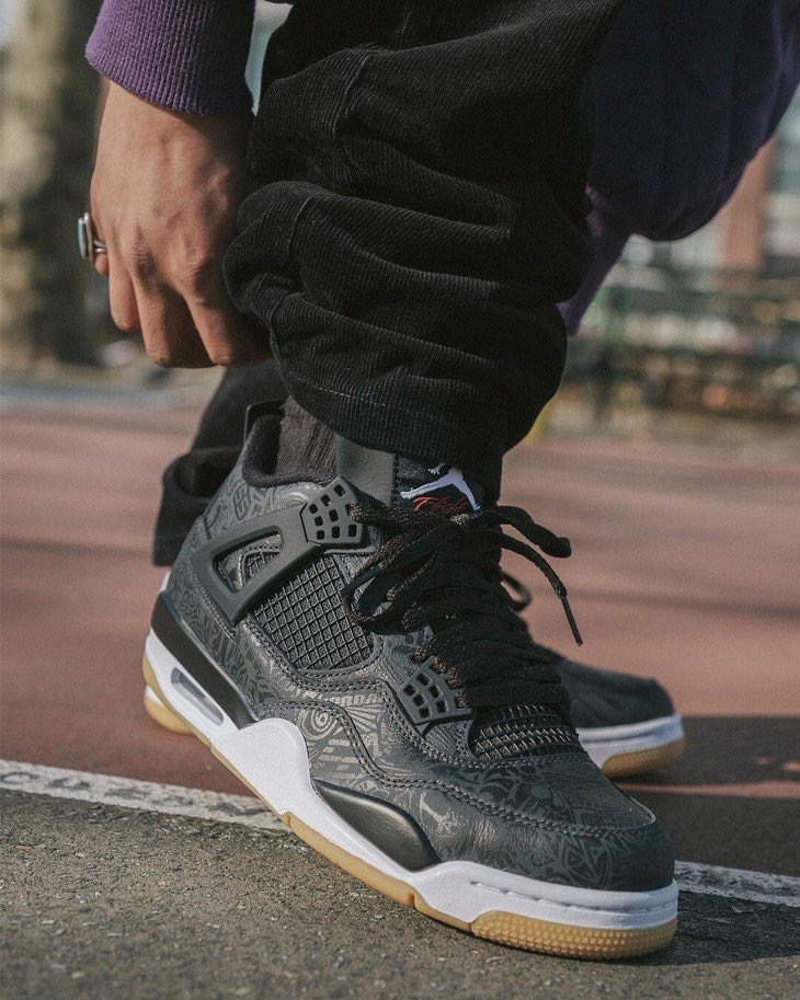 [CI1184-001] M NIKE AIR JORDAN 4 BLACK LASER
