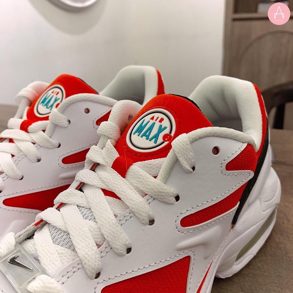 [AO1741-101] M NIKE AIR MAX 2 LIGHT HABANERO RED