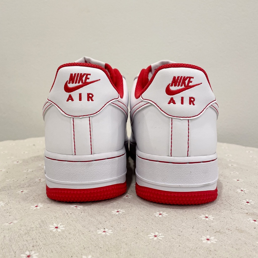 [CV1724-100] M NIKE AIR FORCE 1 LOW WHITE UNIVERSITY RED STITCH
