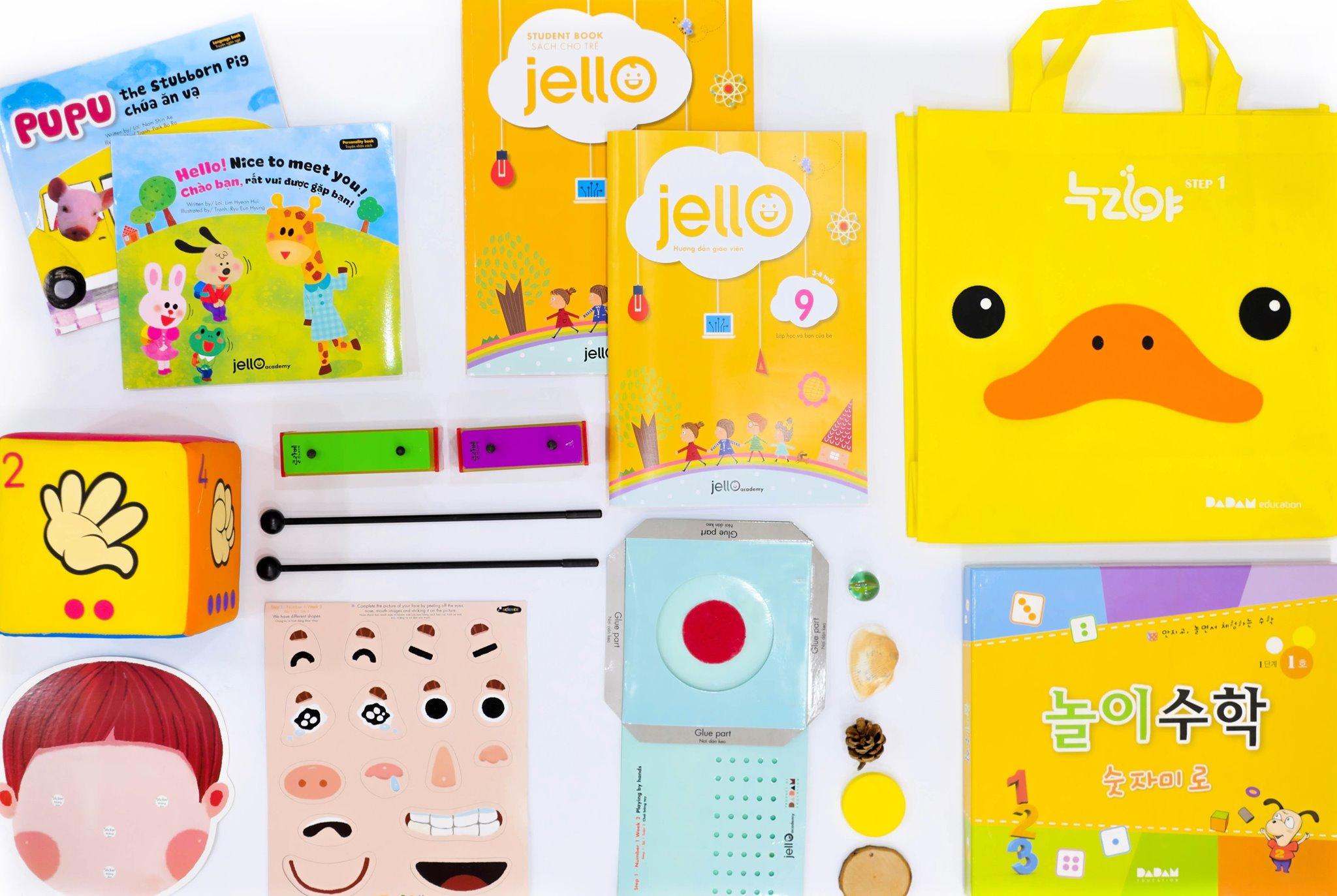 Bộ học cụ Jello - 3 Tuổi - Tháng 09