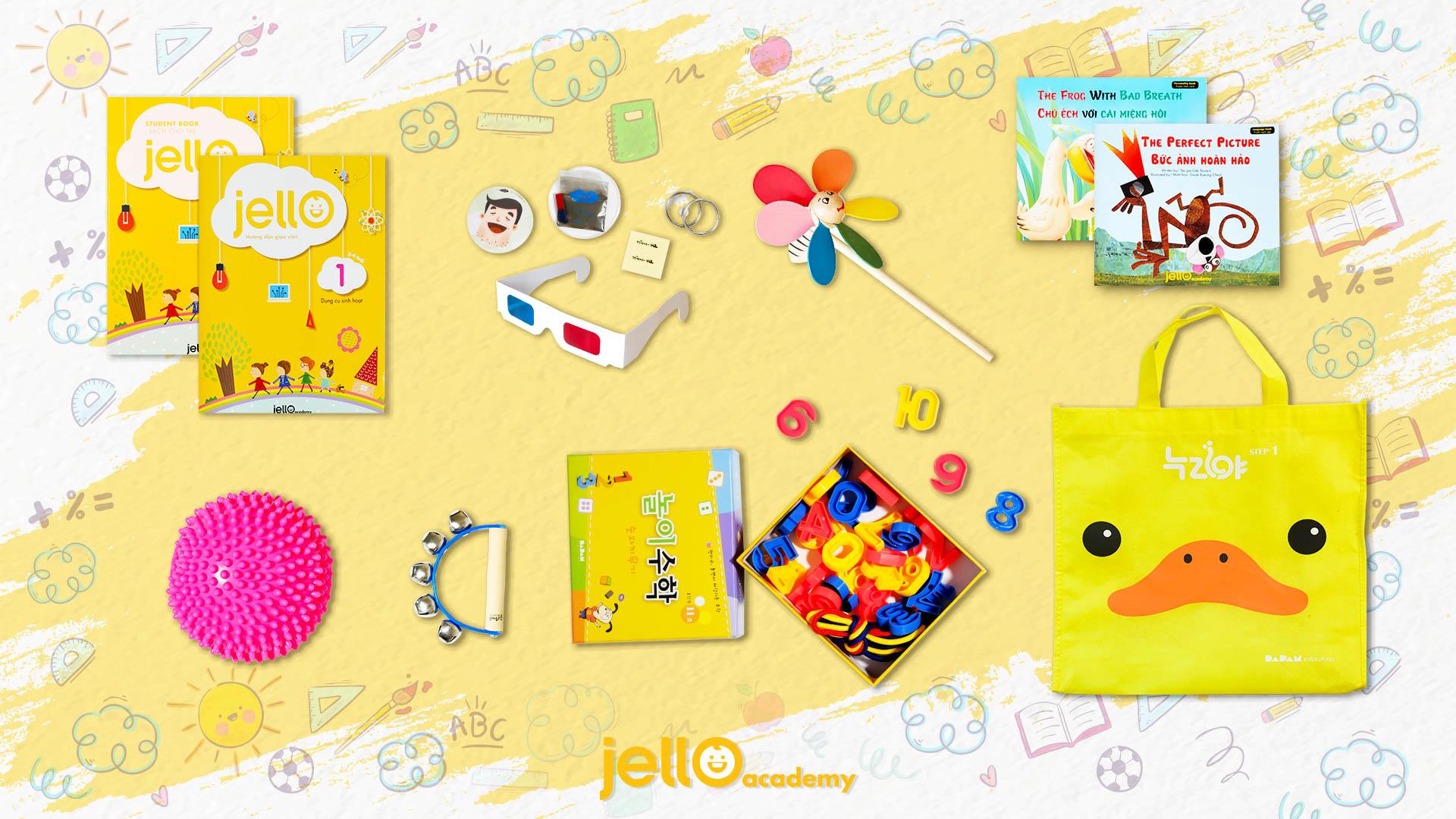 Bộ Học Cụ Jello - 3 Tuổi - Tháng 01