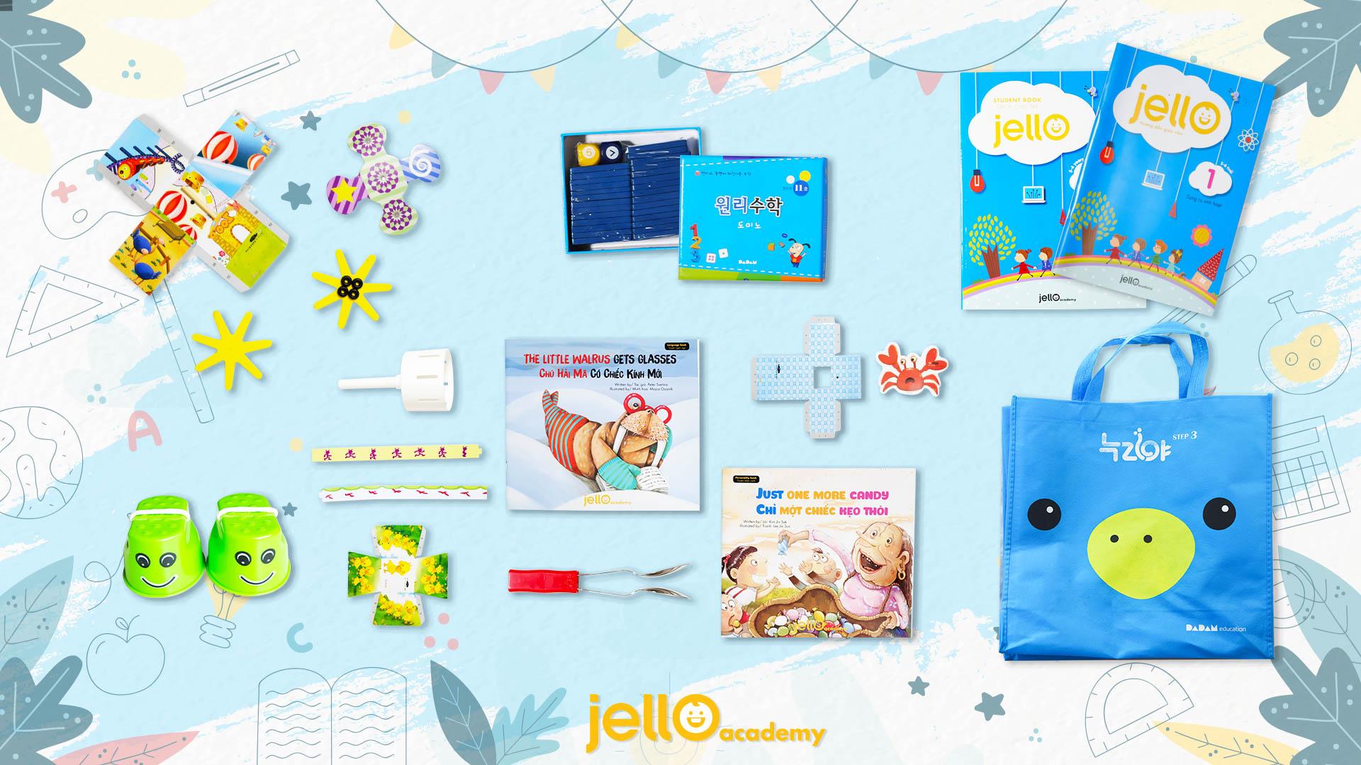 Bộ học cụ Jello - 5 Tuổi - Tháng 01