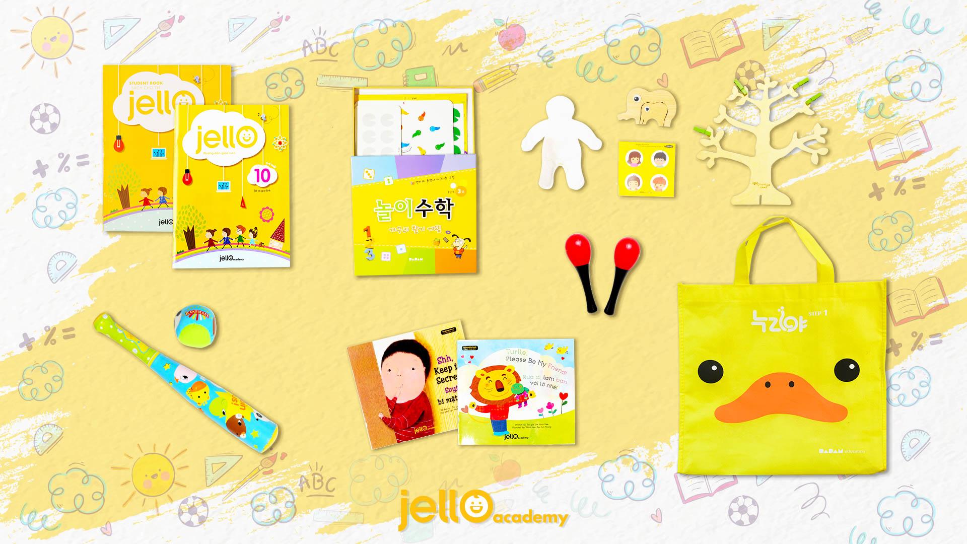 Bộ học cụ Jello - 3 Tuổi - Tháng 10
