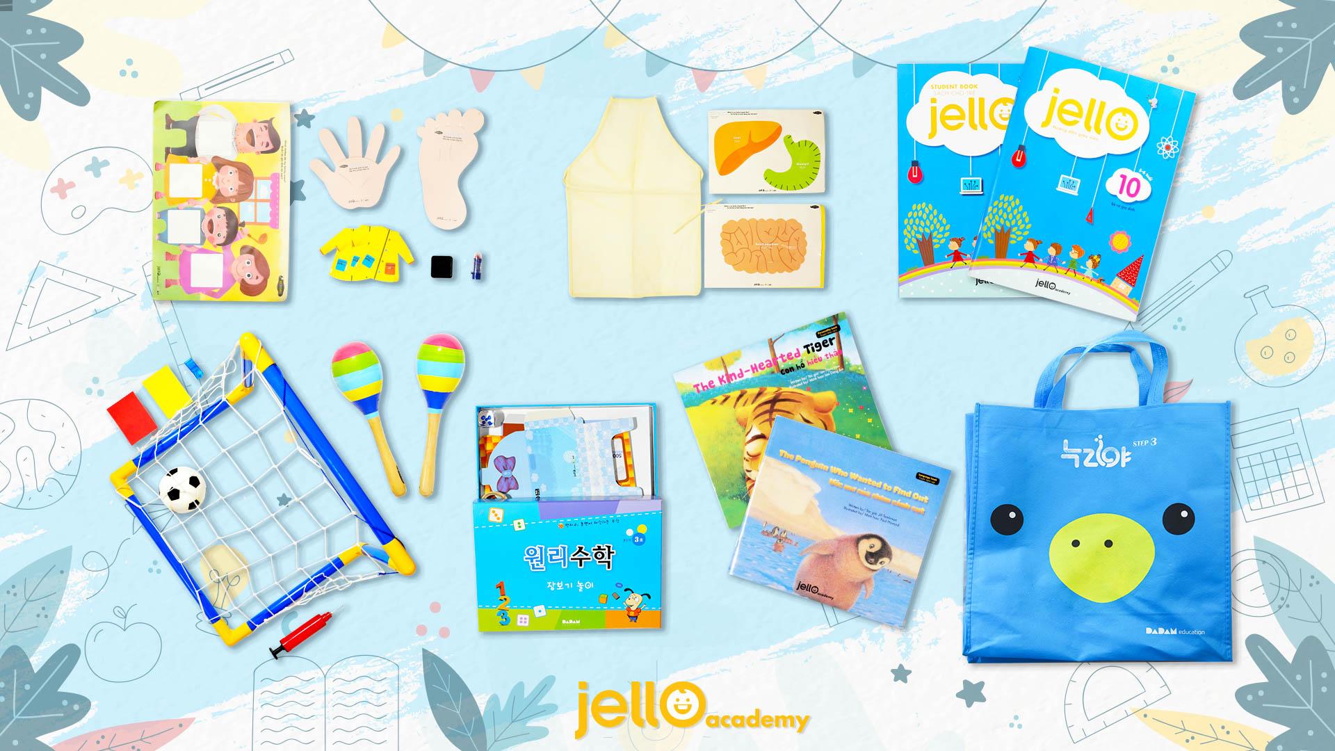 Bộ học cụ Jello - 5 Tuổi - Tháng 10