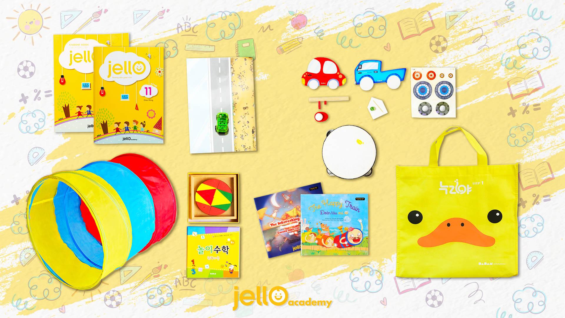 Bộ học cụ Jello - 3 Tuổi - Tháng 11