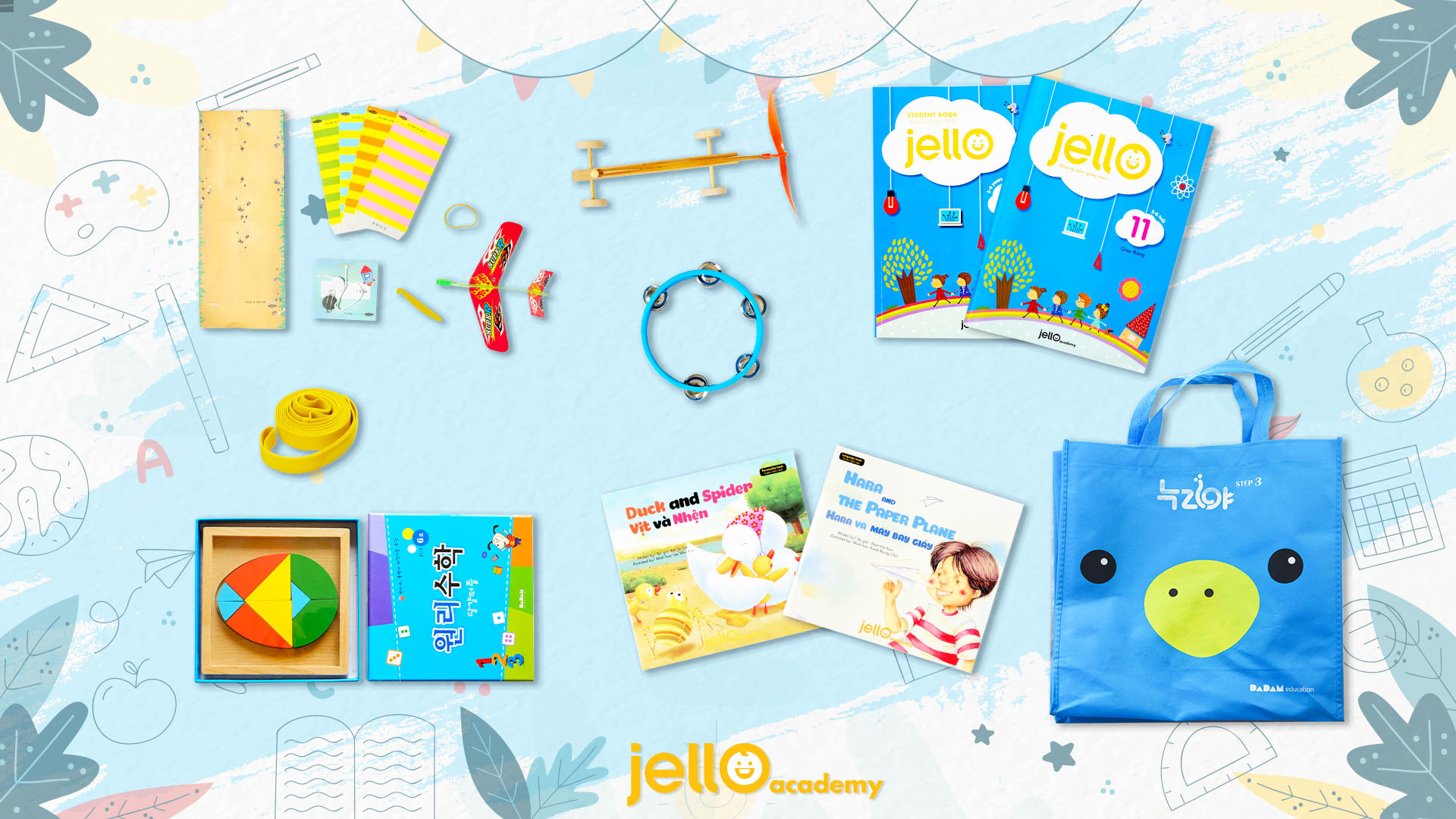 Bộ học cụ Jello - 5 Tuổi - Tháng 11