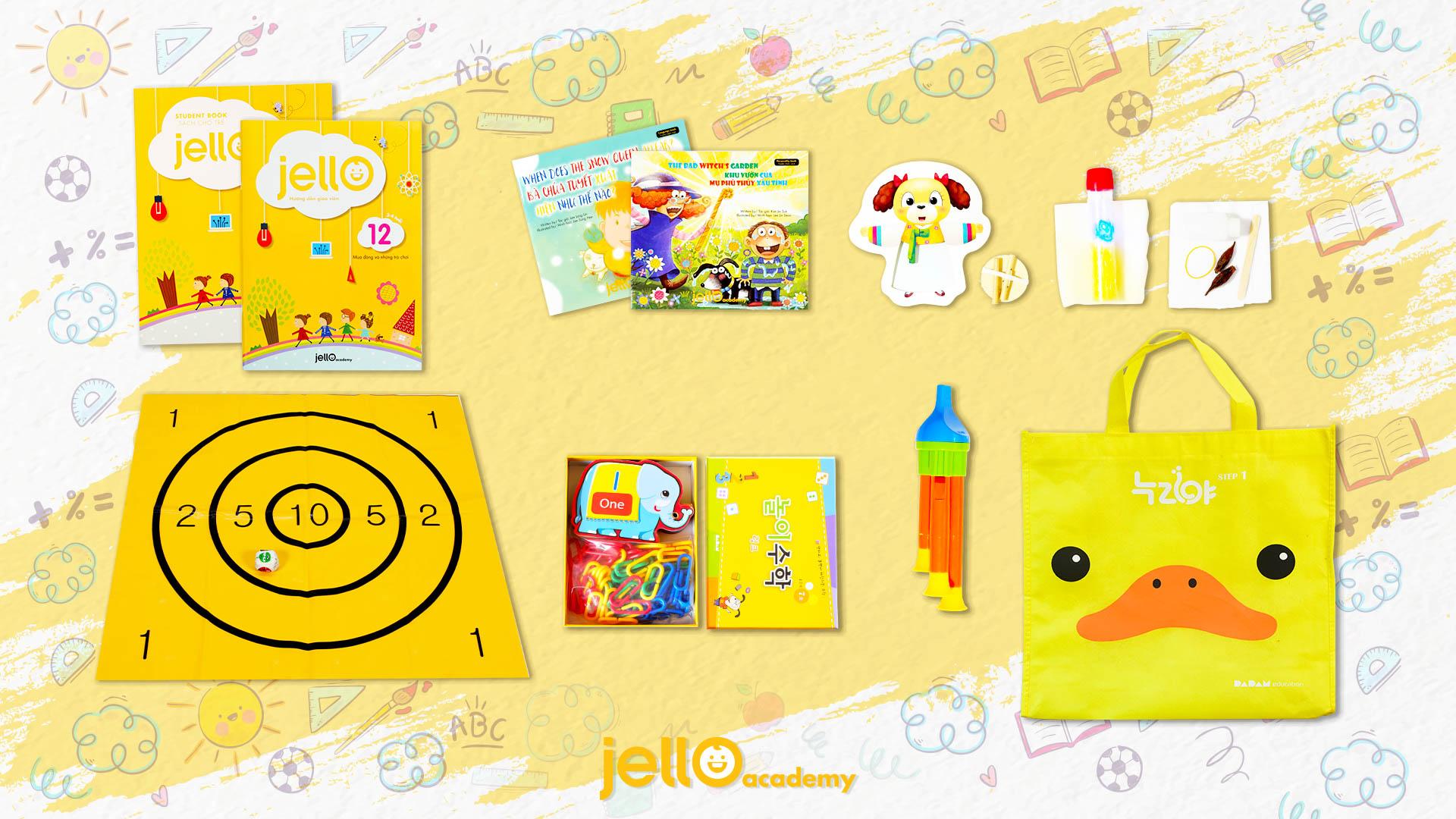 Bộ học cụ Jello - 3 Tuổi - Tháng 12
