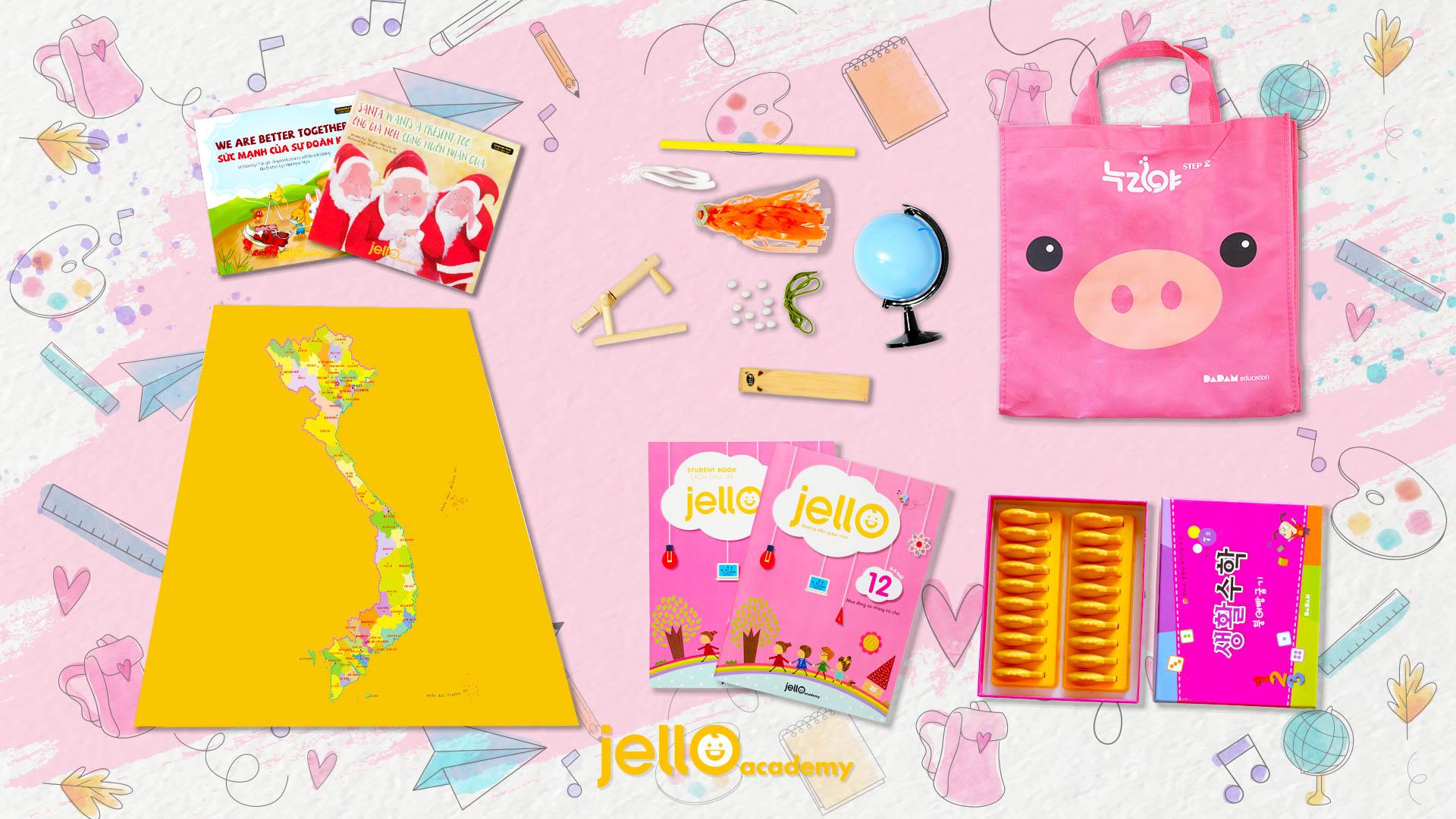 Bộ học cụ Jello - 4 Tuổi - Tháng 12