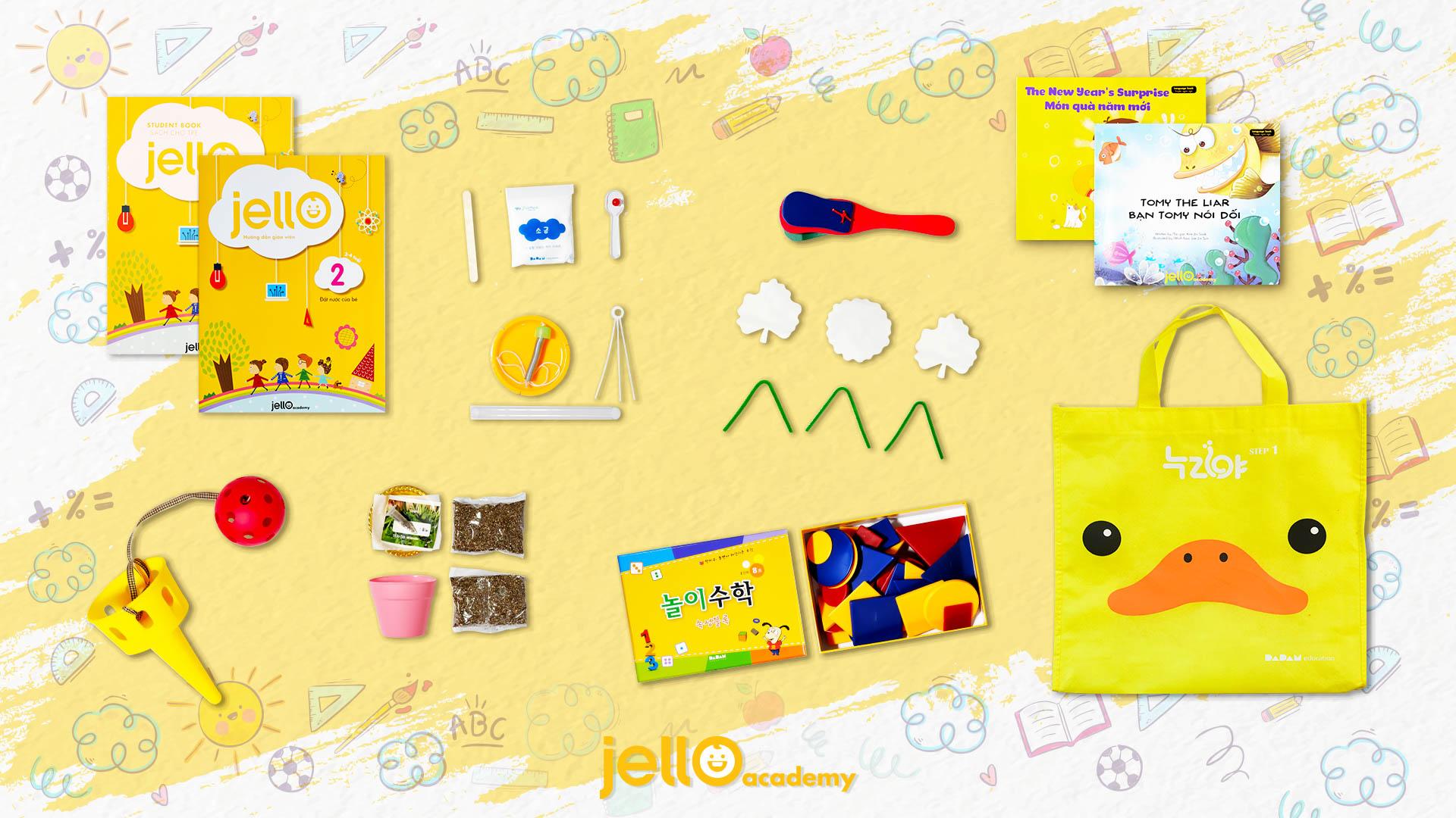 Bộ học cụ Jello - 3 Tuổi - Tháng 02