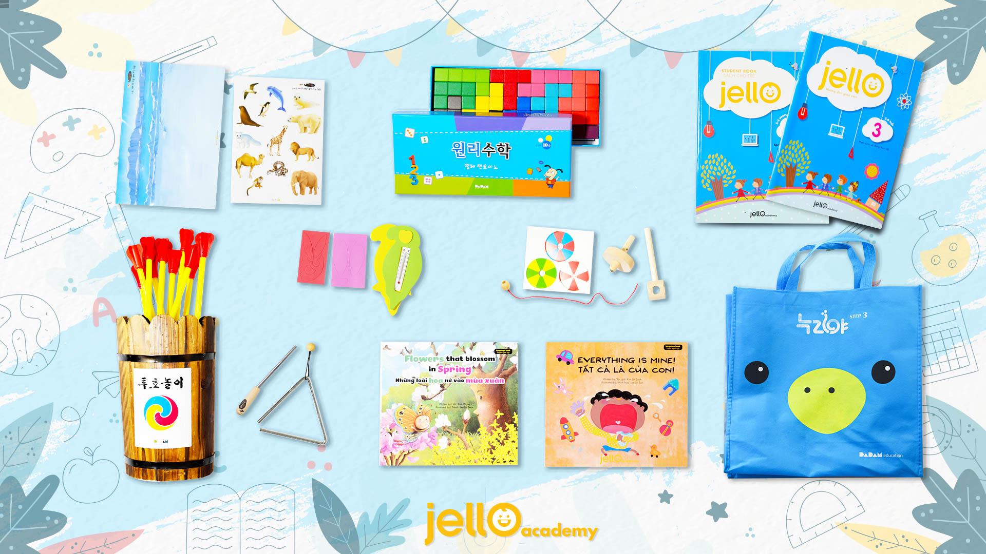 Bộ học cụ Jello - 5 Tuổi - Tháng 03