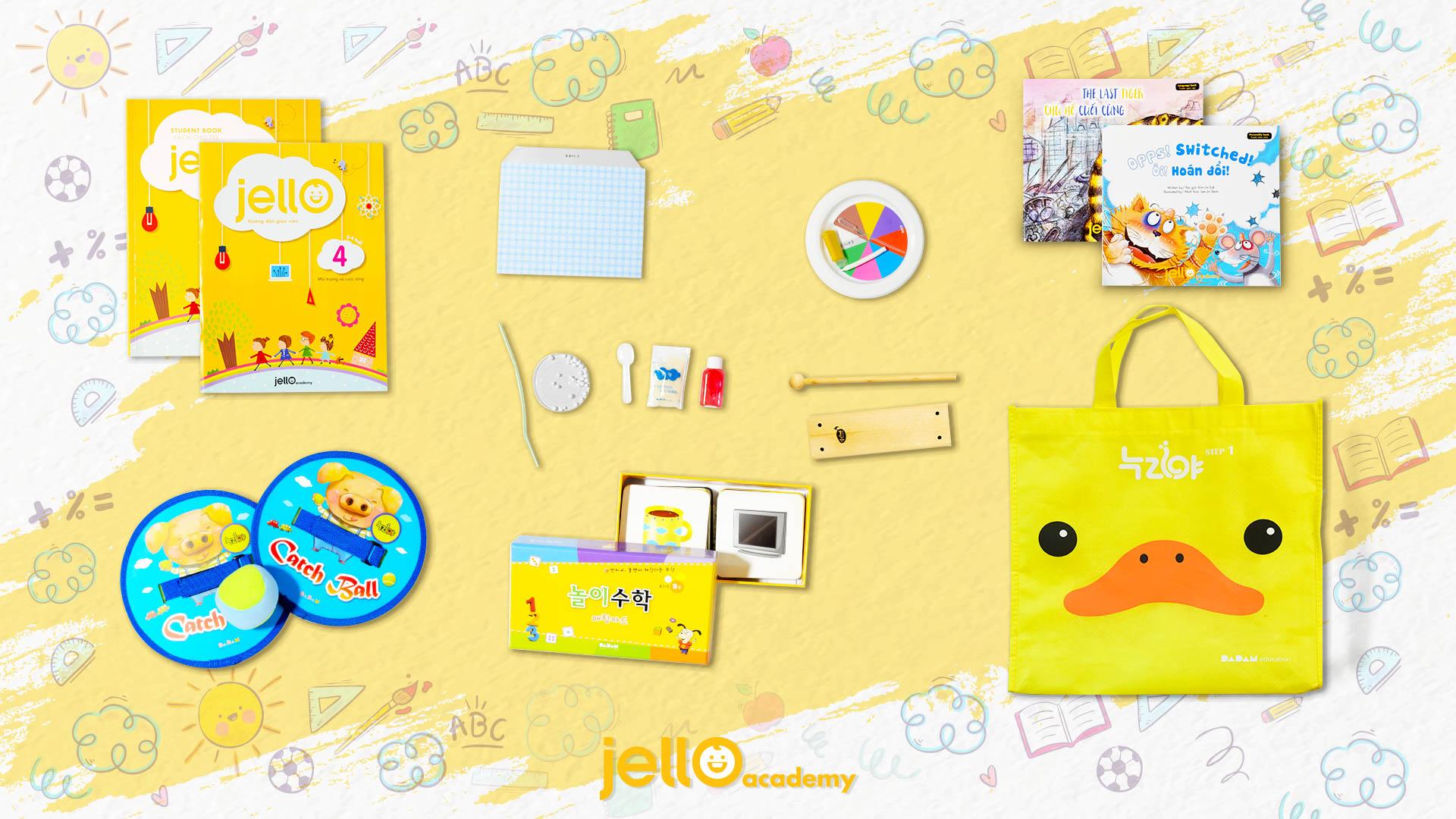 Bộ Học Cụ Jello - 3 Tuổi - Tháng 04
