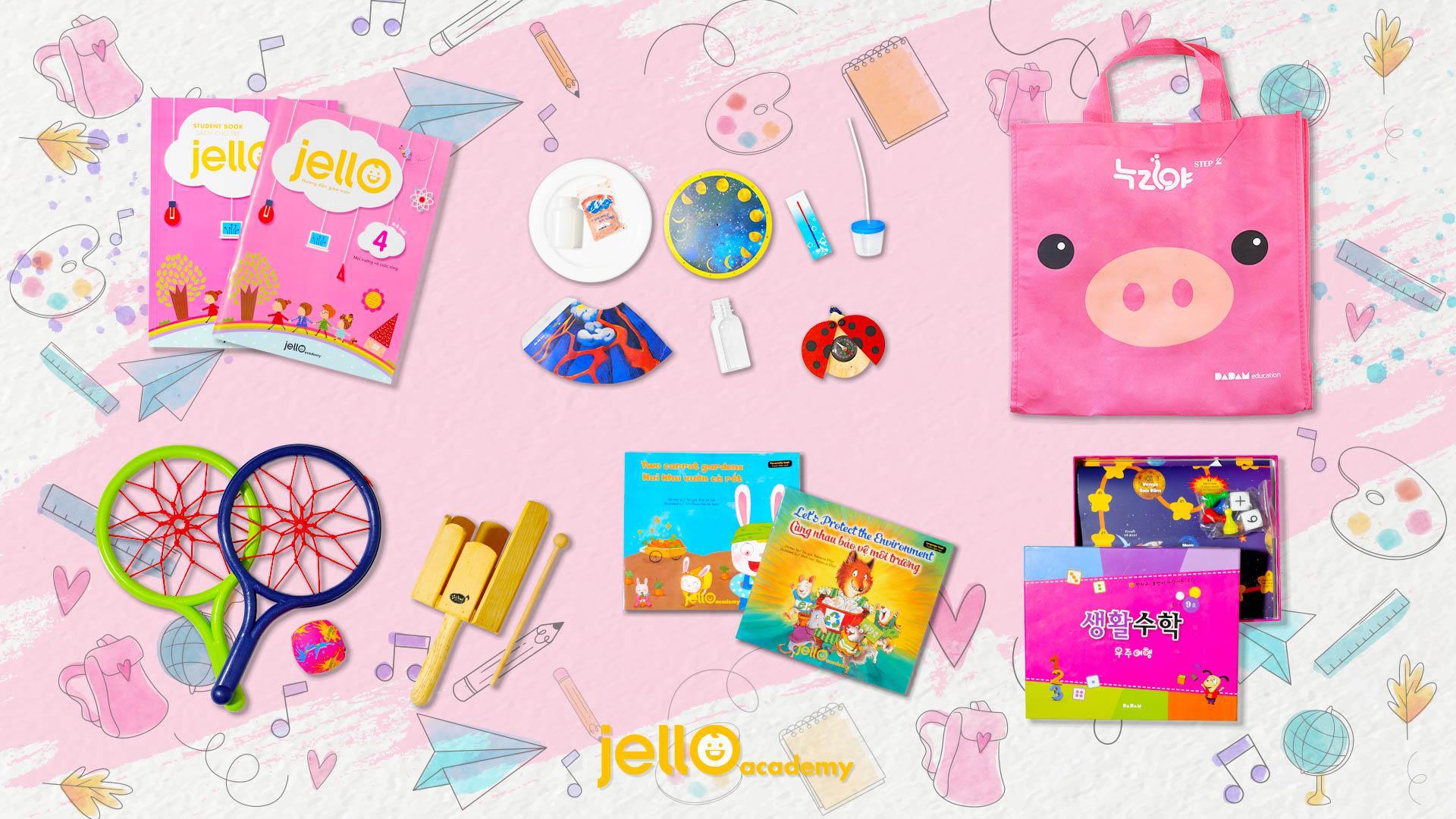 Bộ học cụ Jello - 4 Tuổi - Tháng 04