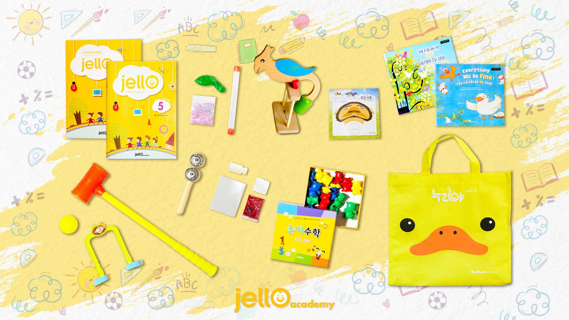 Bộ Học Cụ Jello - 3 Tuổi - Tháng 05