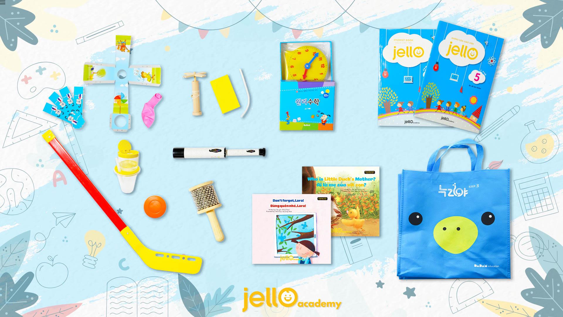 Bộ học cụ Jello - 5 Tuổi - Tháng 05