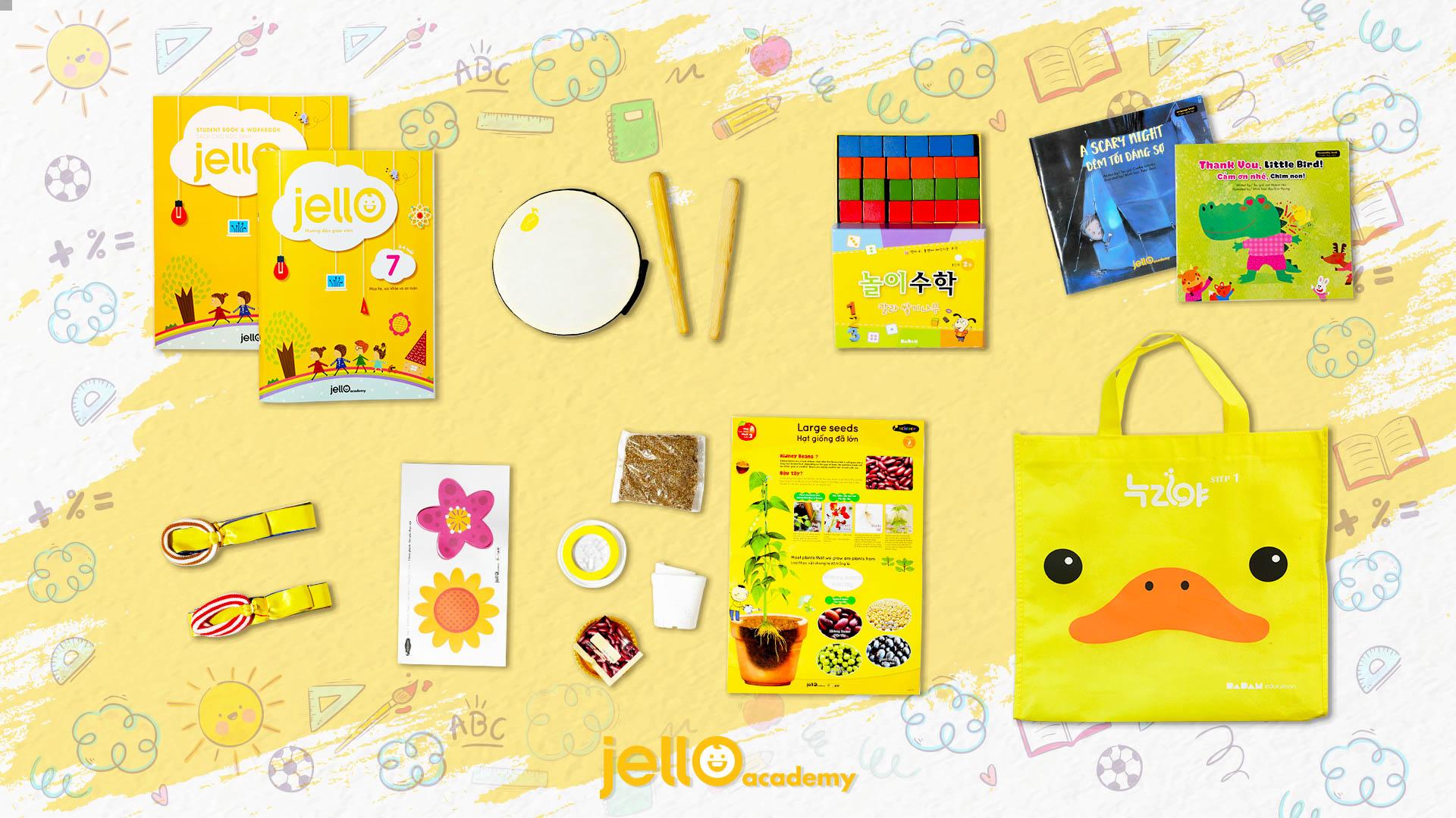 Bộ học cụ Jello - 3 tuổi - Tháng 7