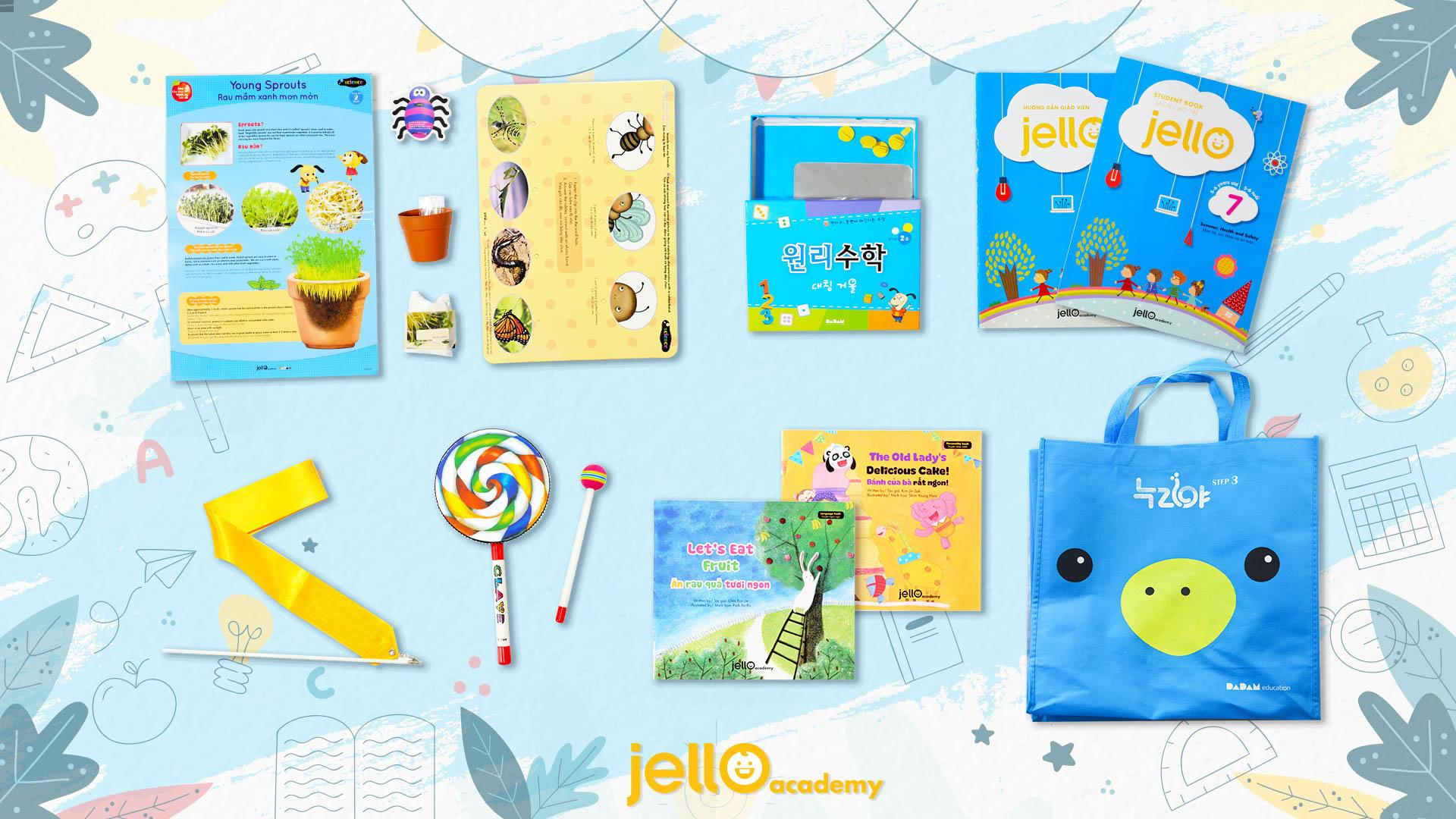 Bộ học cụ Jello - 5 Tuổi - Tháng 07