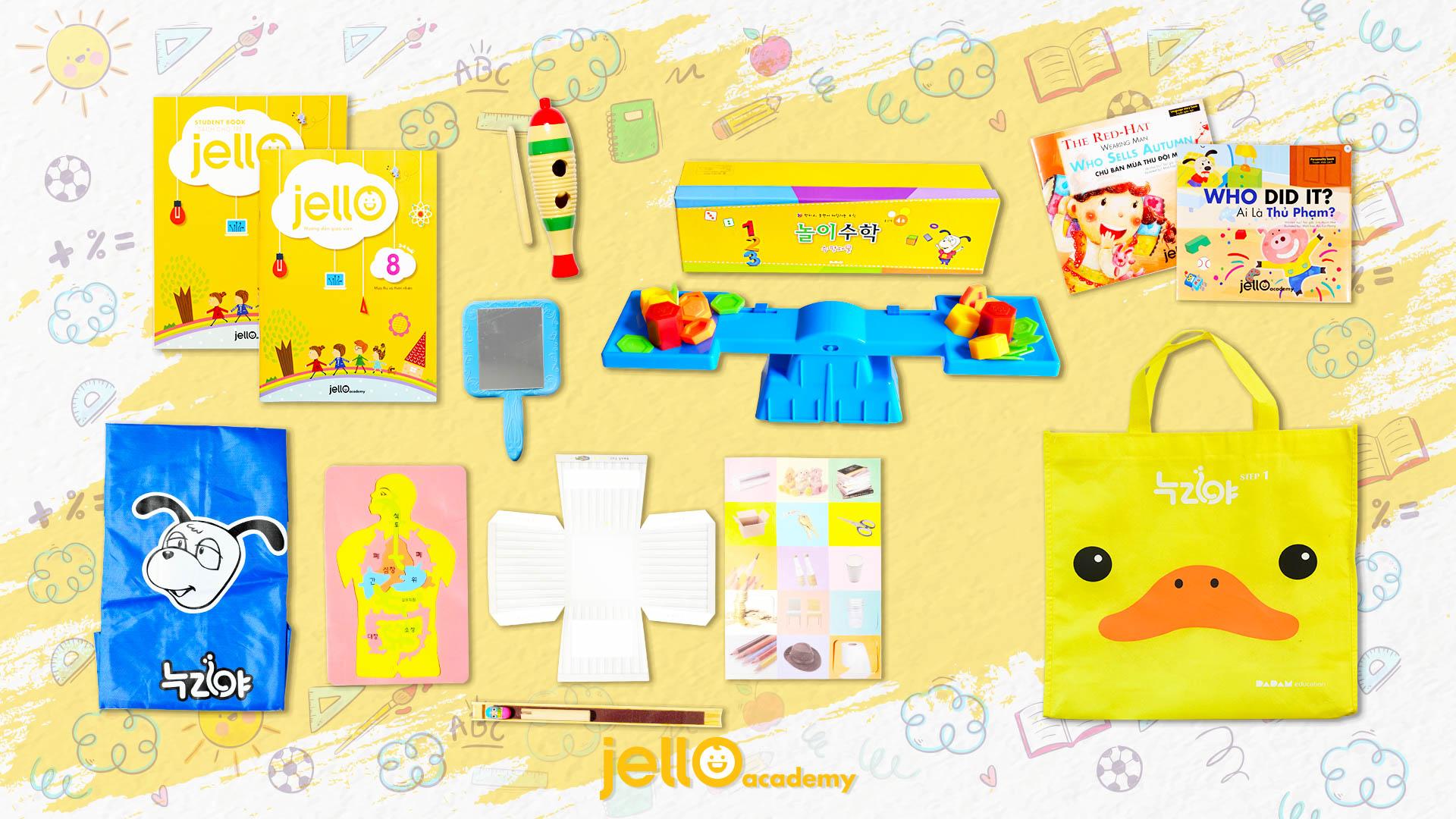 Bộ Học Cụ Jello - 3 Tuổi - Tháng 08