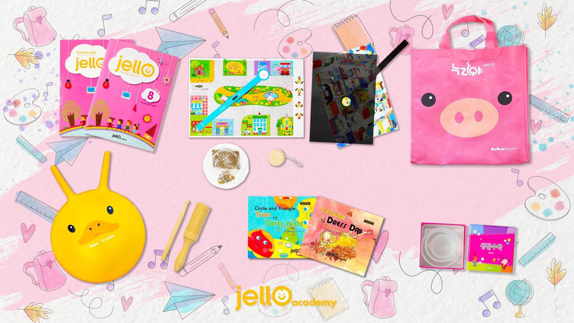 Bộ học cụ Jello - 4 Tuổi - Tháng 08
