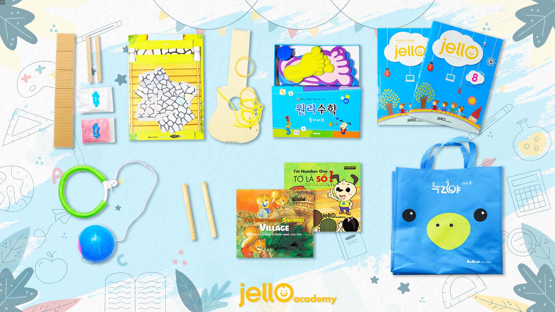 Bộ học cụ Jello - 5 Tuổi - Tháng 08
