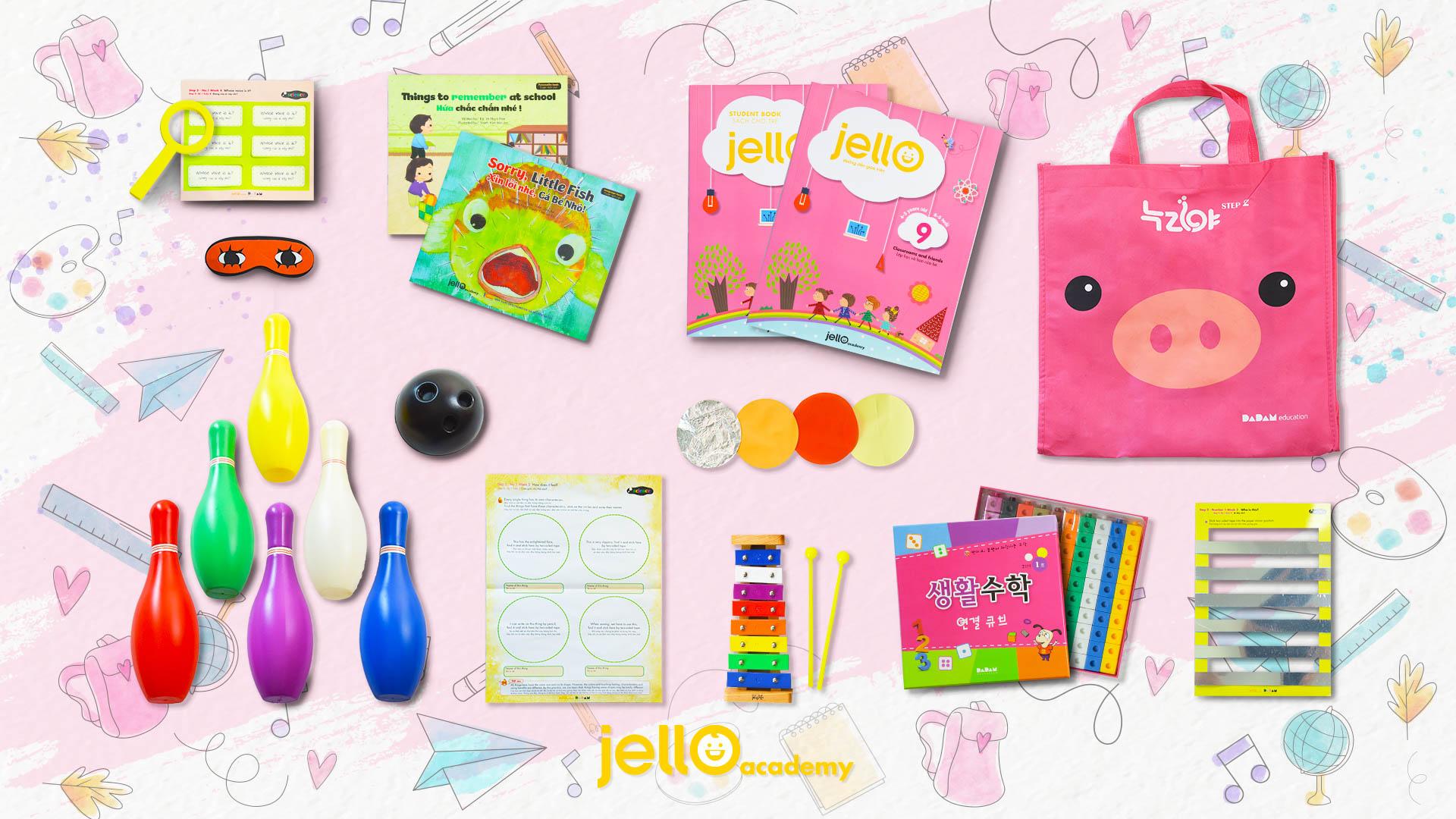 Bộ học cụ Jello - 4 Tuổi - Tháng 09