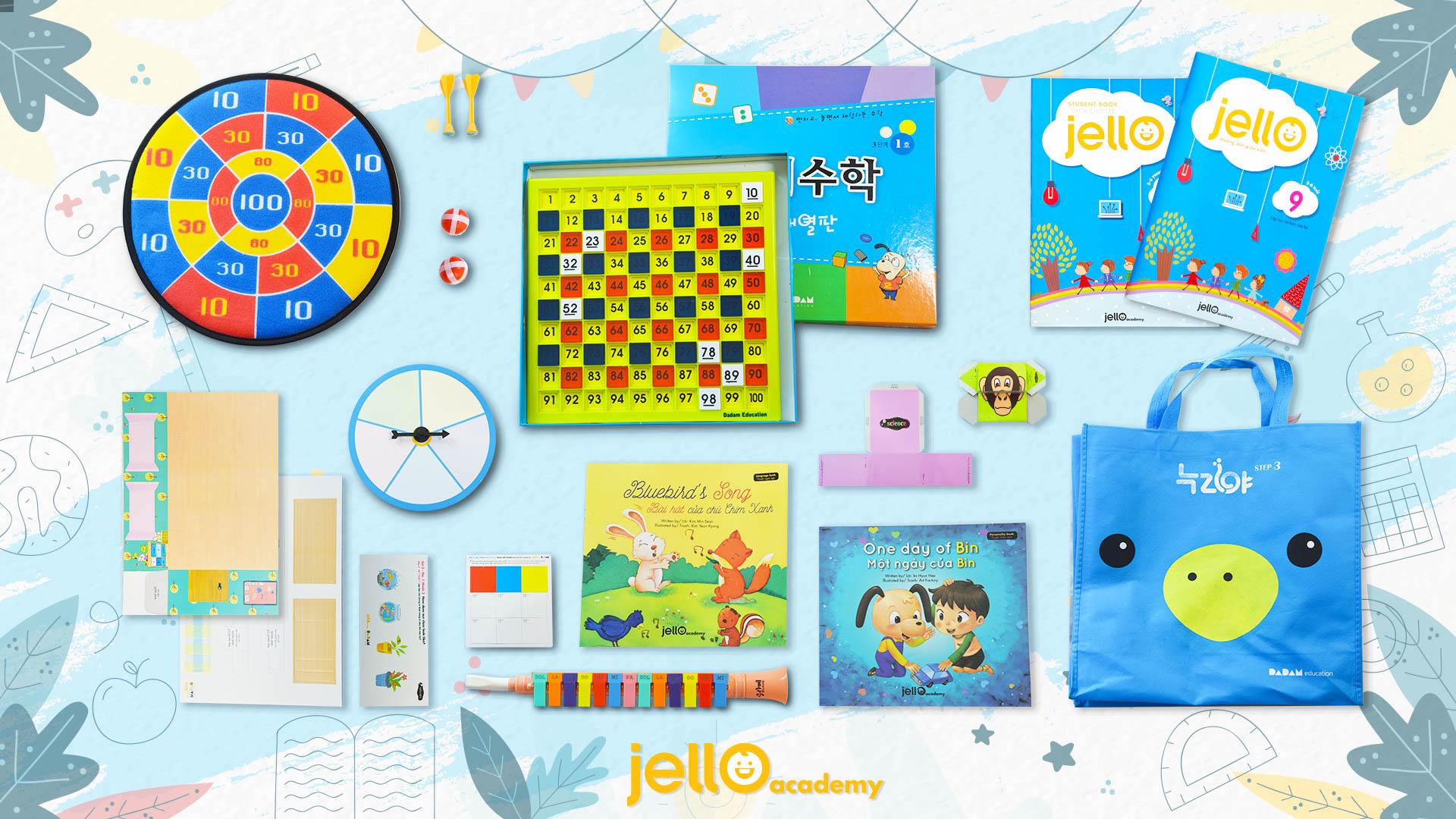 Bộ học cụ Jello - 5 Tuổi - Tháng 09