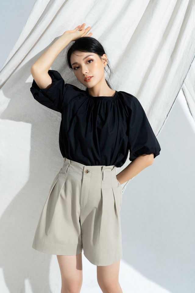 Sally top with belt